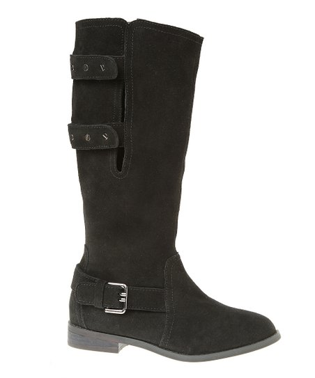 Black Suede Convertible Boot