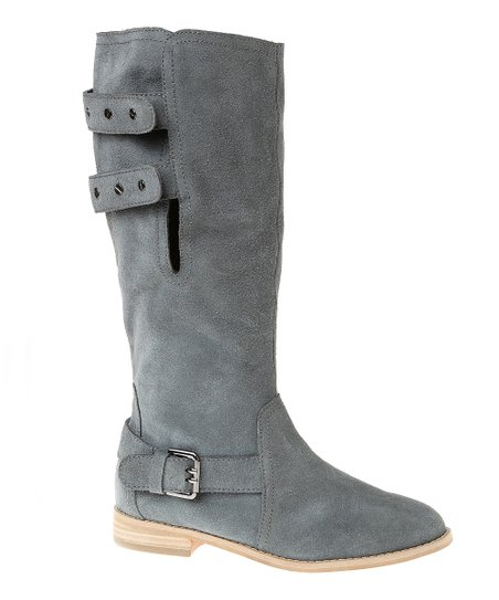 Pewter Suede Convertible Boot