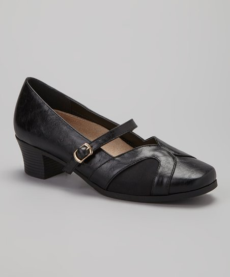 Black Denise Mary Jane Pump