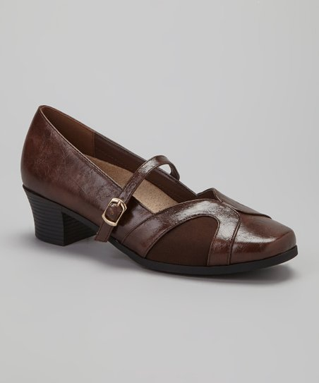 Brown Denise Mary Jane Pump