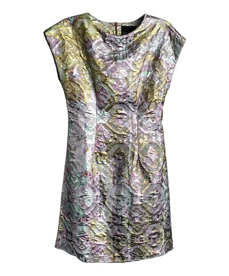 Citron Patina Hour Glass Molded Dress