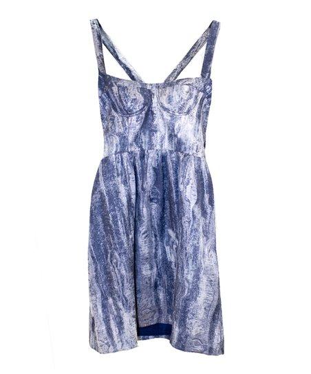 Blue Watercolor Party Dress