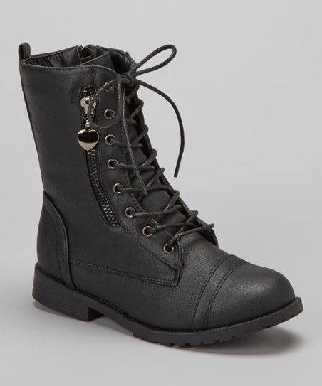 Black Zipper Sun Boot