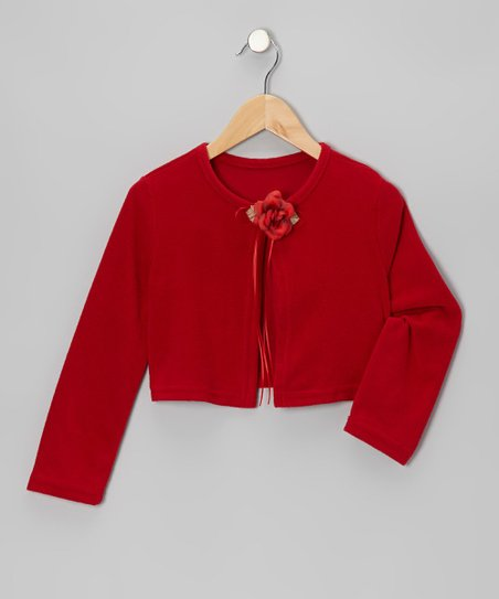 Red Flower Bolero - Toddler & Girls