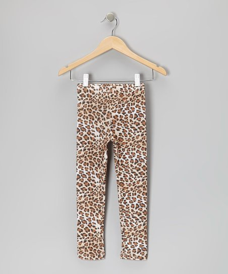 Tan Leopard Leggings - Infant, Toddler & Girls