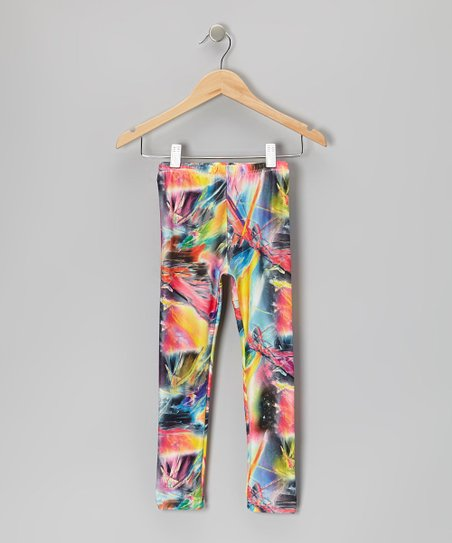 Rainbow Splash Leggings - Toddler & Girls
