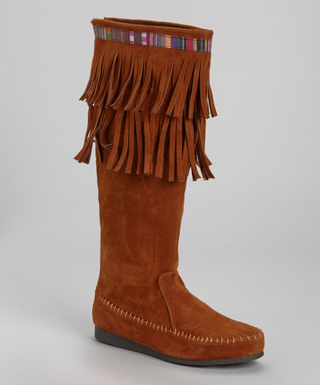 Chestnut Sora 10 Fringe Boot