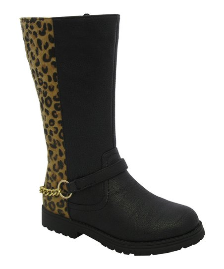 Tan Leopard Chain Claudia Boot
