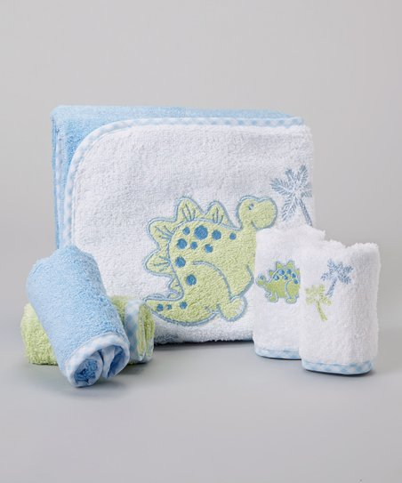Green Dinosaur Hooded Towel Set