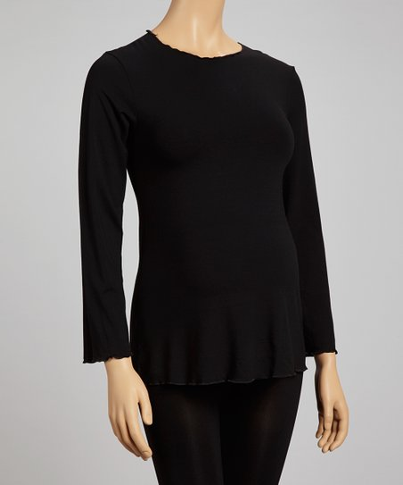 Nicole Black Maternity Crewneck Top - Plus - Women