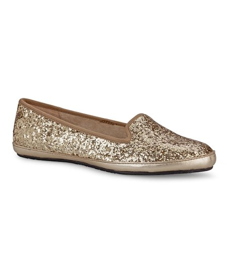 Champagne Alloway Glitter Slipper - Women