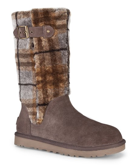 Espresso Katerina Plaid Boot - Women
