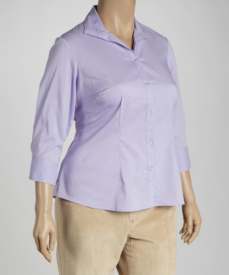 Lilac Button-Up - Plus