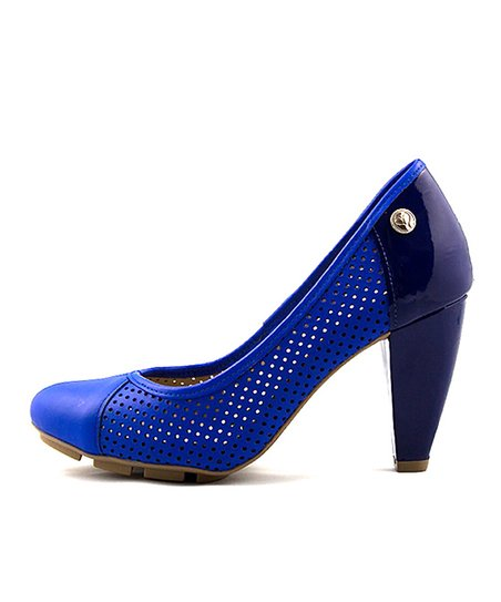 Blue Skigh Leather Pump