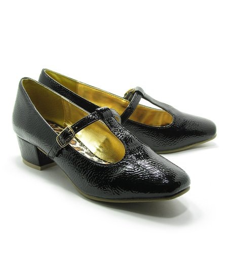 Black Nana T-Strap Pump