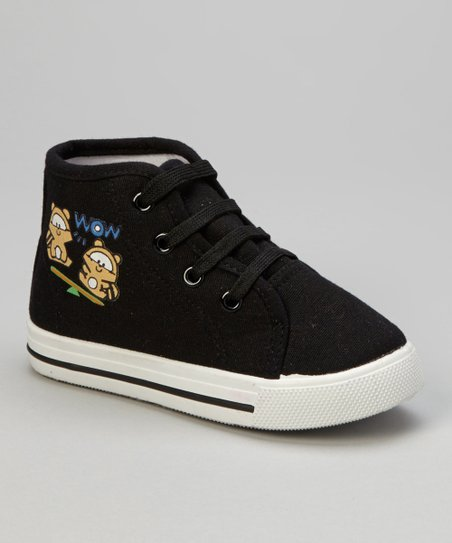 Black 'Wow' Hi-Top Sneaker
