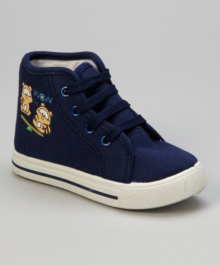 Navy 'Wow' Hi-Top Sneaker