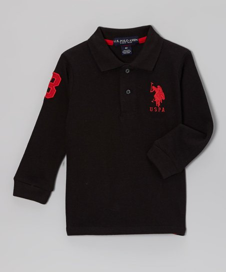 Black Polo - Toddler