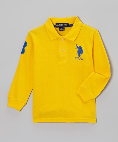 Yellow Polo - Toddler