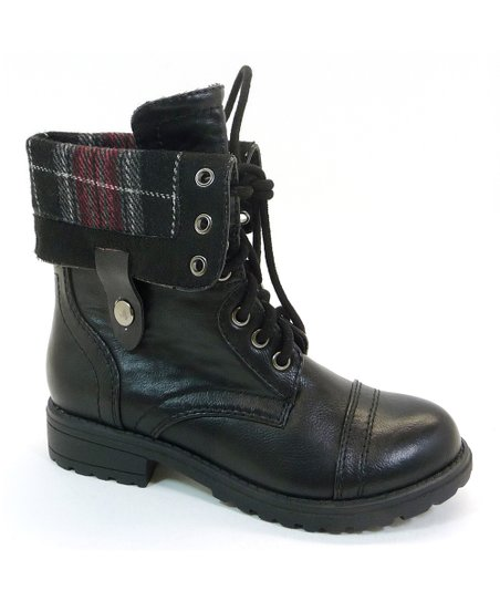 Black Oralee Fold-Over Boot