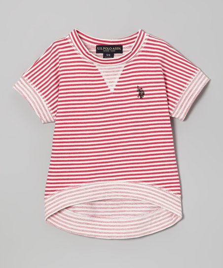 Pink & White Stripe Tee - Girls