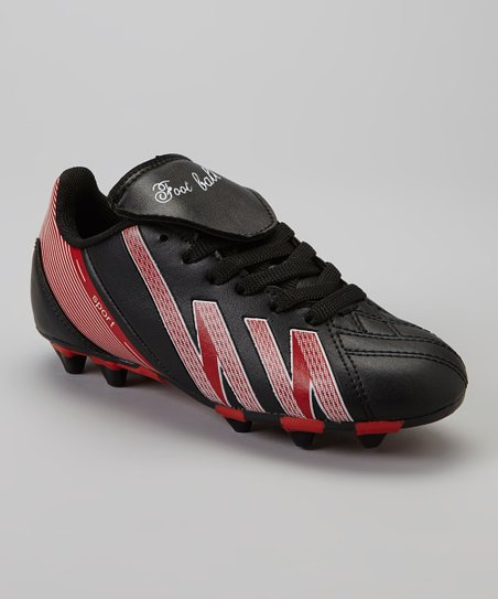 Black & Red 'Foot Ball' Cleat