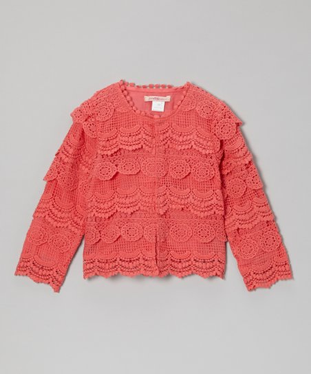 Watermelon Lace Cropped Jacket - Toddler & Girls