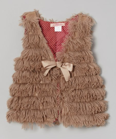 Brown Shag Vest - Toddler & Girls