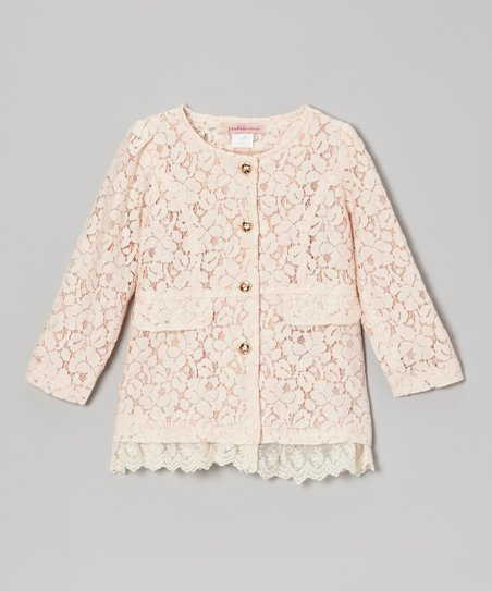 Pink Lace Layered Jacket - Toddler & Girls