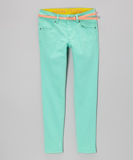 Opal Belted Straight-Leg Jeans - Girls