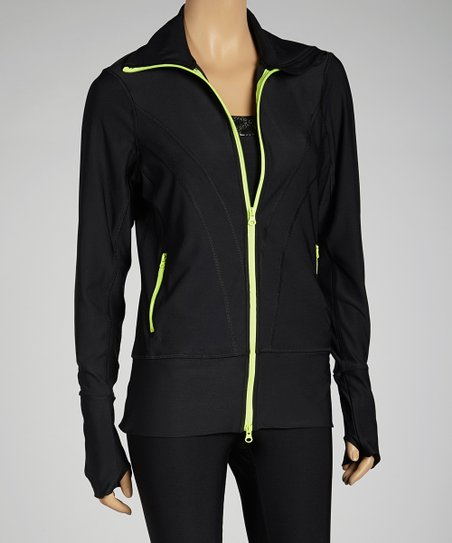 Black & Lime Track Jacket