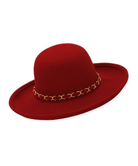 Red Agnes Wool Sun Hat