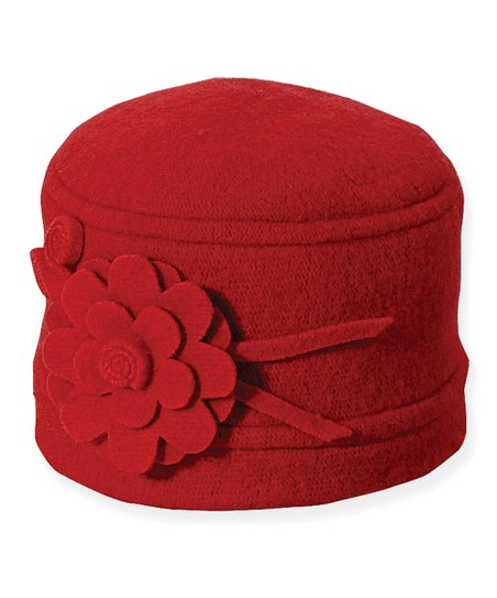 Red Chino Wool Cloche