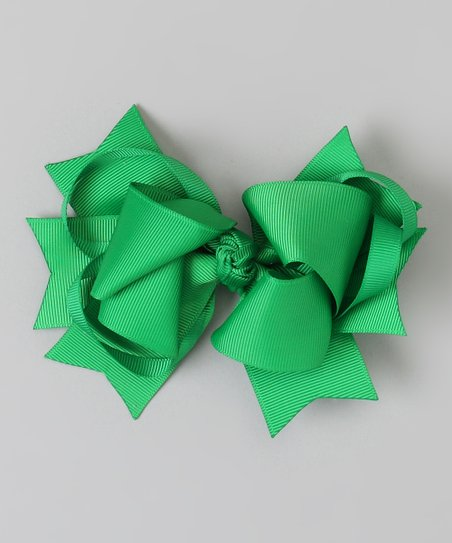 Emerald Sweetie Pie Bow Clip