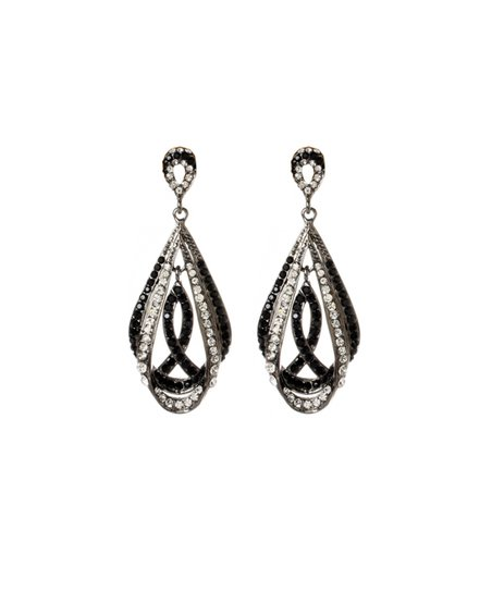 Crystal & Jet Black Gotham Chandelier Earrings