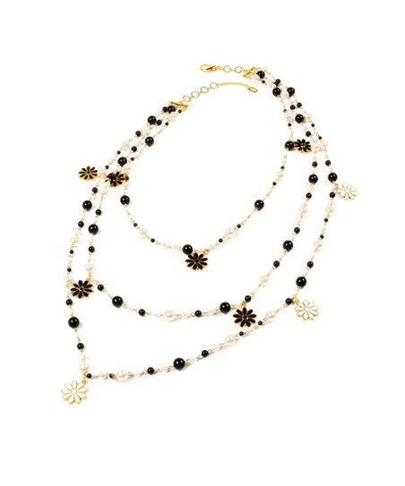 Black & White Madeline Strand Necklace