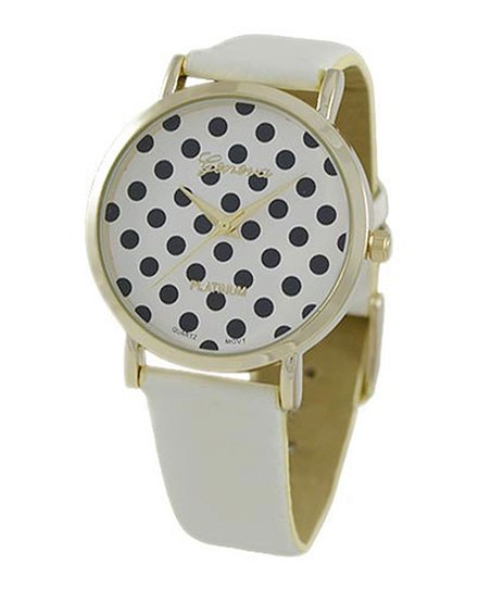 White Polka Dot Watch