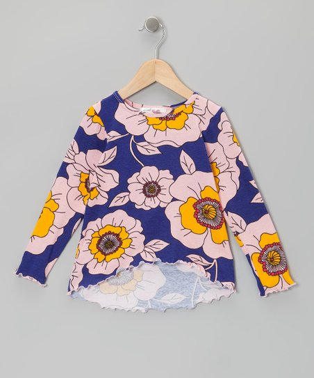 Purple Floral Hi-Low Tunic - Infant, Toddler & Girls
