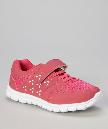 Hot Pink & White Adjustable Sneaker
