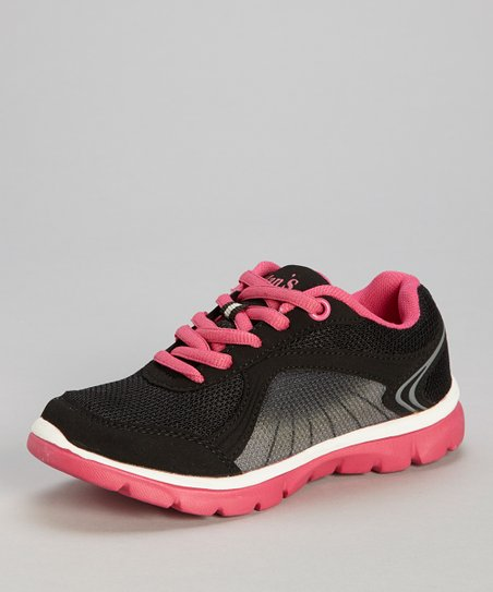 Black & Hot Pink Sneaker