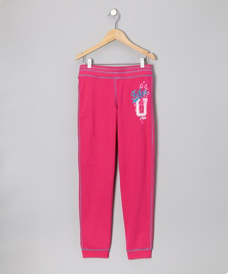 Pink French Terry Sweatpants - Girls