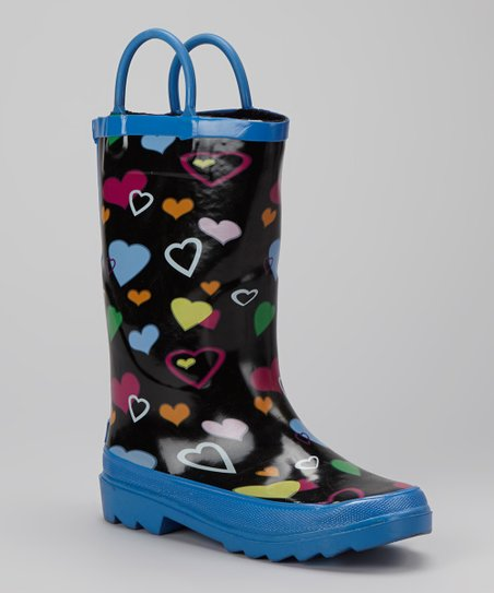 Purple Hearts Storm Chief Rain Boot - Kids