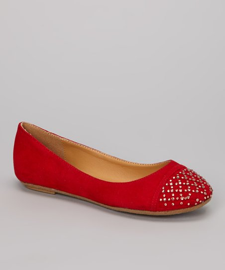 Red Mirabella Sparkle Flat