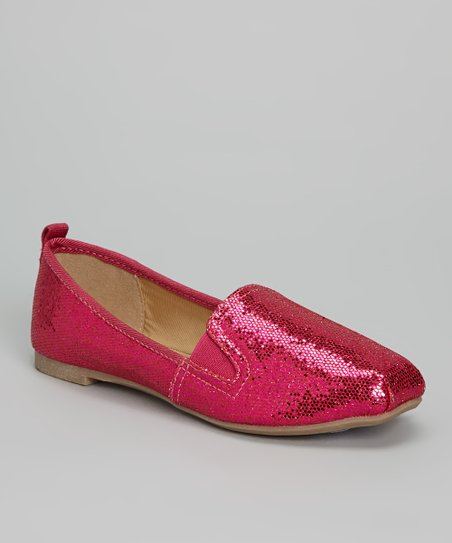 Fuchsia Glitter Sachi Slip-On Shoe