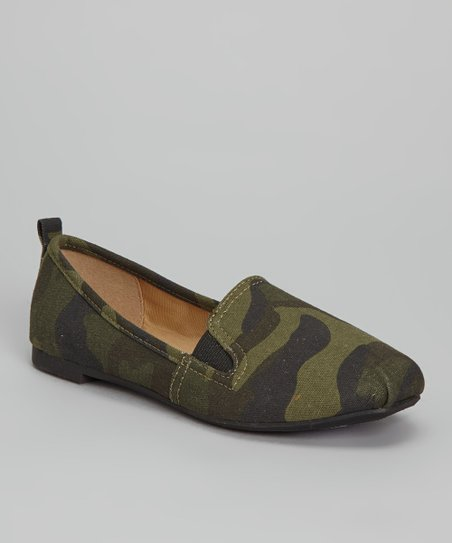 Green Camo Sachi Slip-On Shoe