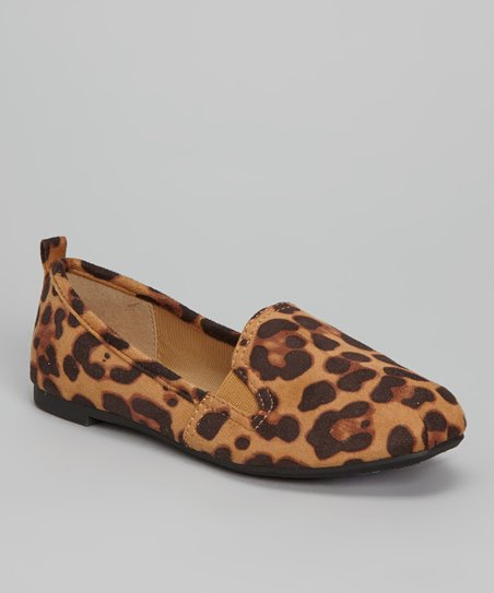 Tan Leopard Sachi Slip-On Shoe