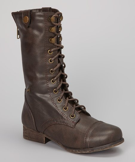 Brown Shorbie Lace-Up Boot