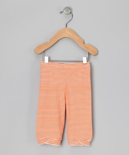 Marigold Stripe Organic Capri Pants - Infant, Toddler & Girls