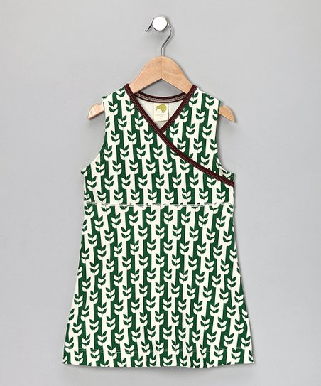 Green Vine Surplice Dress - Infant, Toddler & Girls