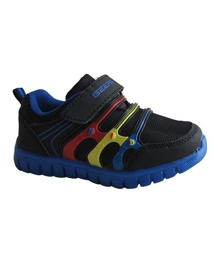 Black & Royal Blue Triple-Band Sneaker